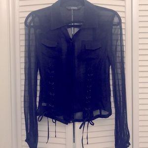 Express 100%silk shirt